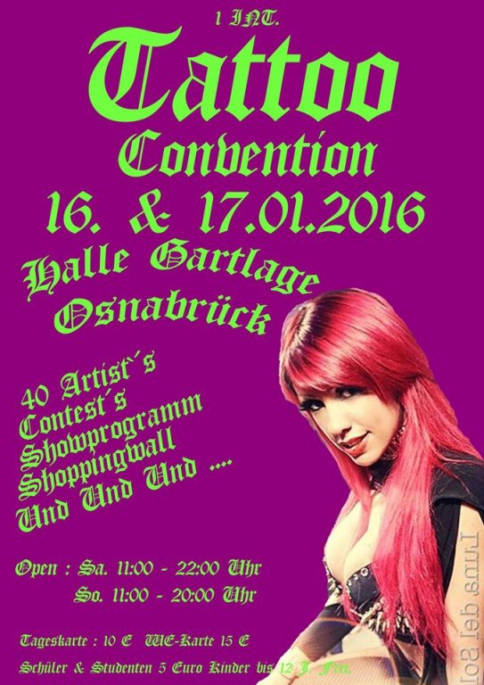 Tattoo convention Osnabruck 2016